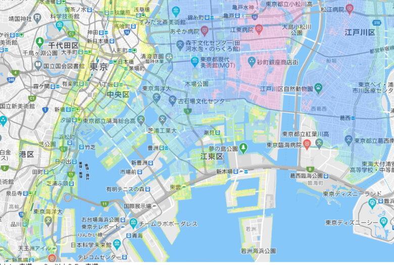 江東区周辺の高潮リスク